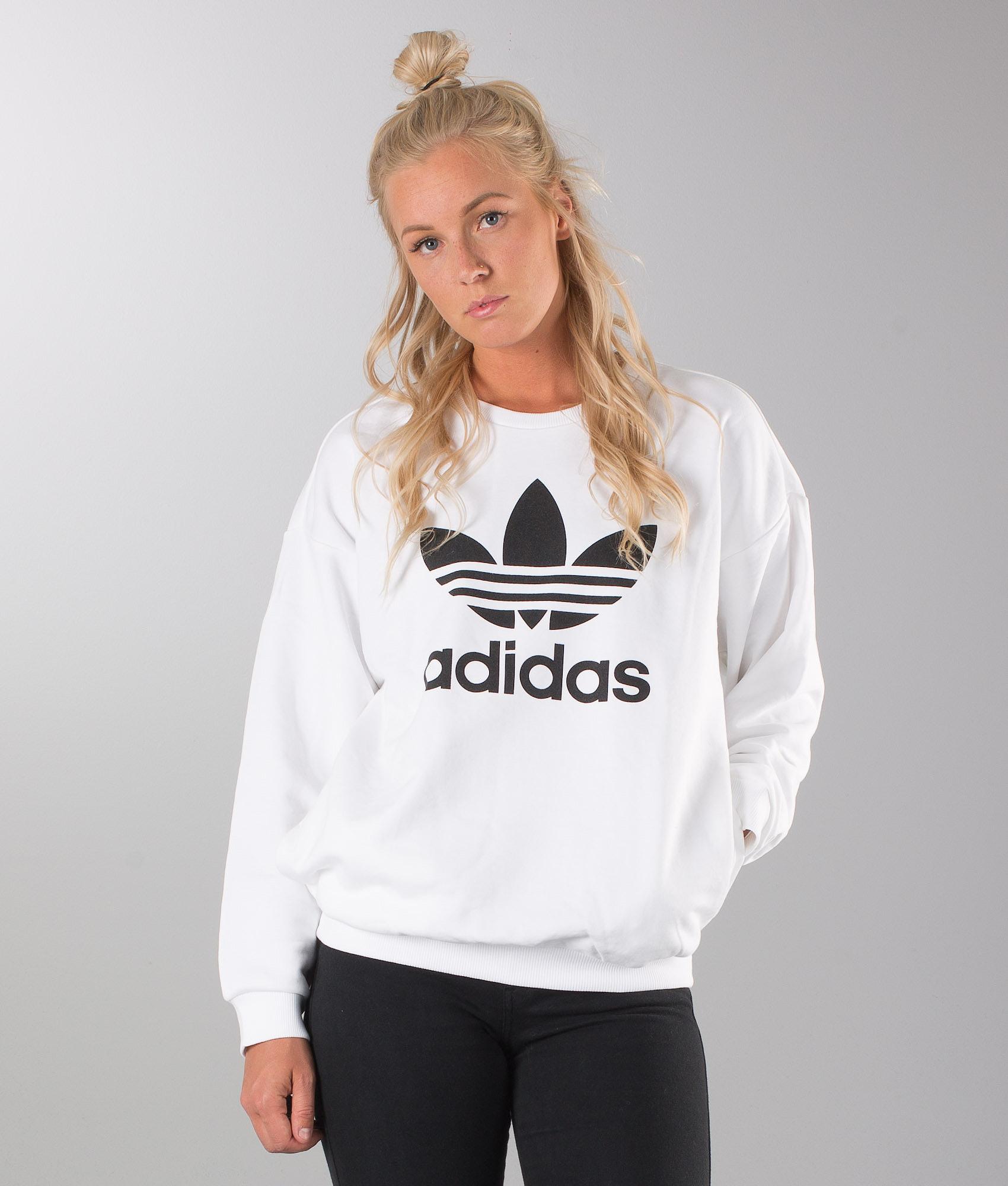 Adidas Originals Trefoil Sweat Pitkähihainen White - Ridestore.fi 9bfff7d9be