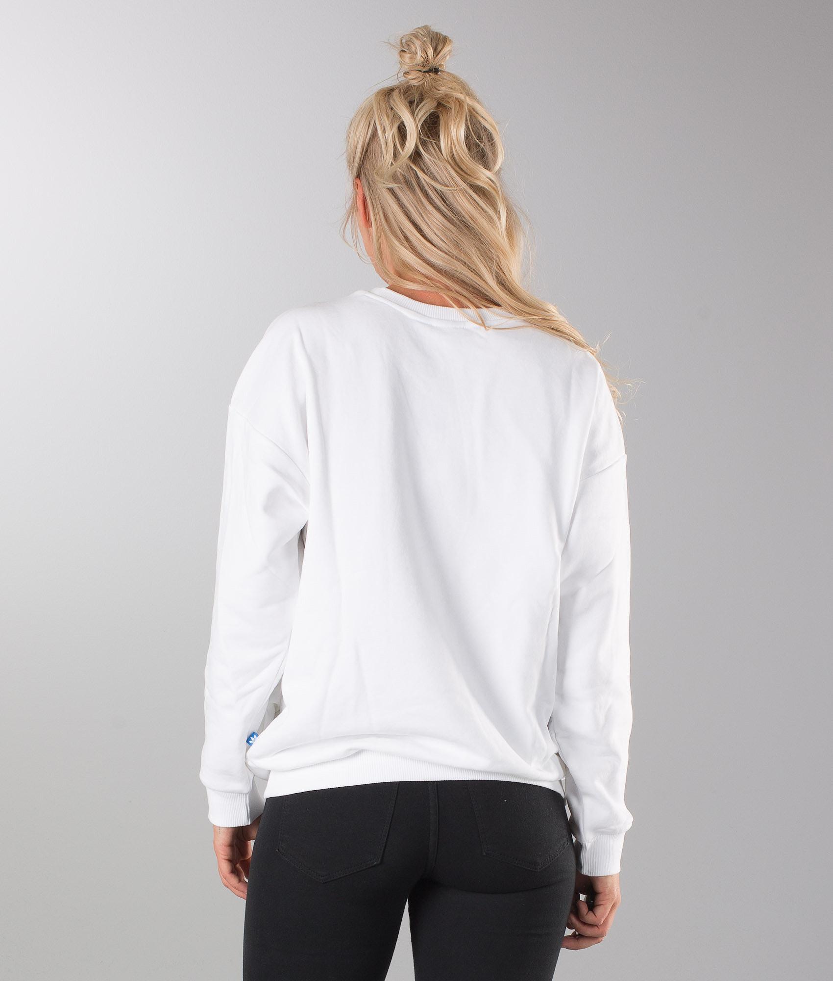 Adidas Originals Trefoil Sweat Sweater White - Ridestore.com 8b15b91987a