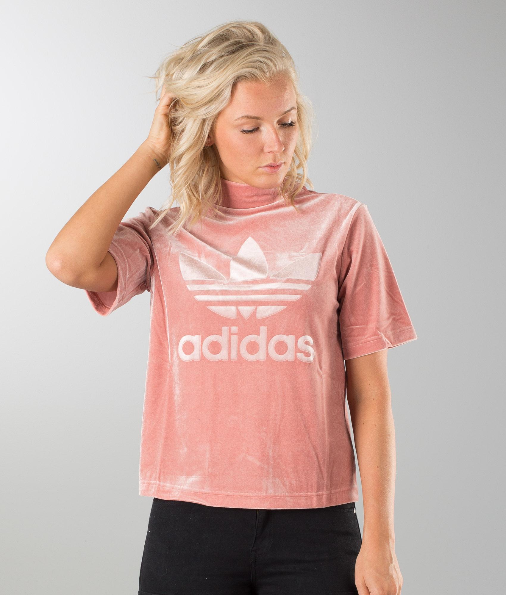 Adidas Originals Velvet Vibes High Neck Boxy T Shirt Rawpin