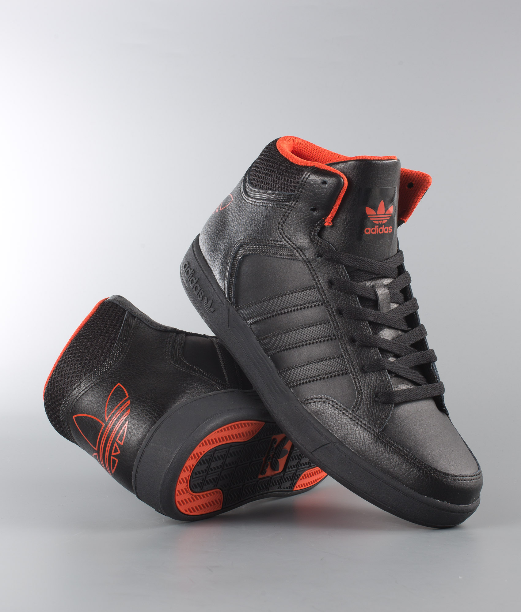 adidas Varial Mid shoes black neon orange