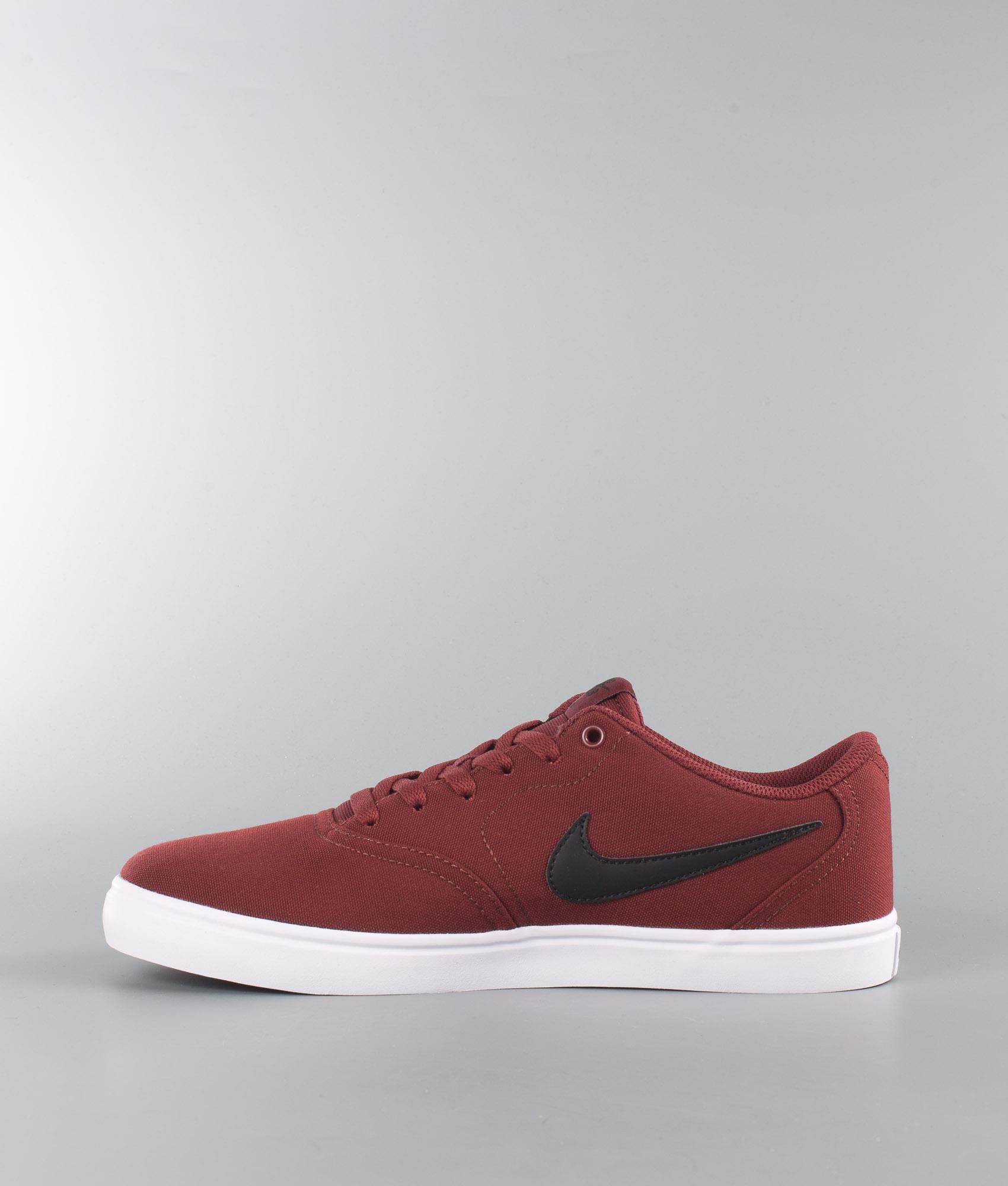 Nike Canvas Solarsoft Check White Dark Redblack Team Shoes kiXTPuZO