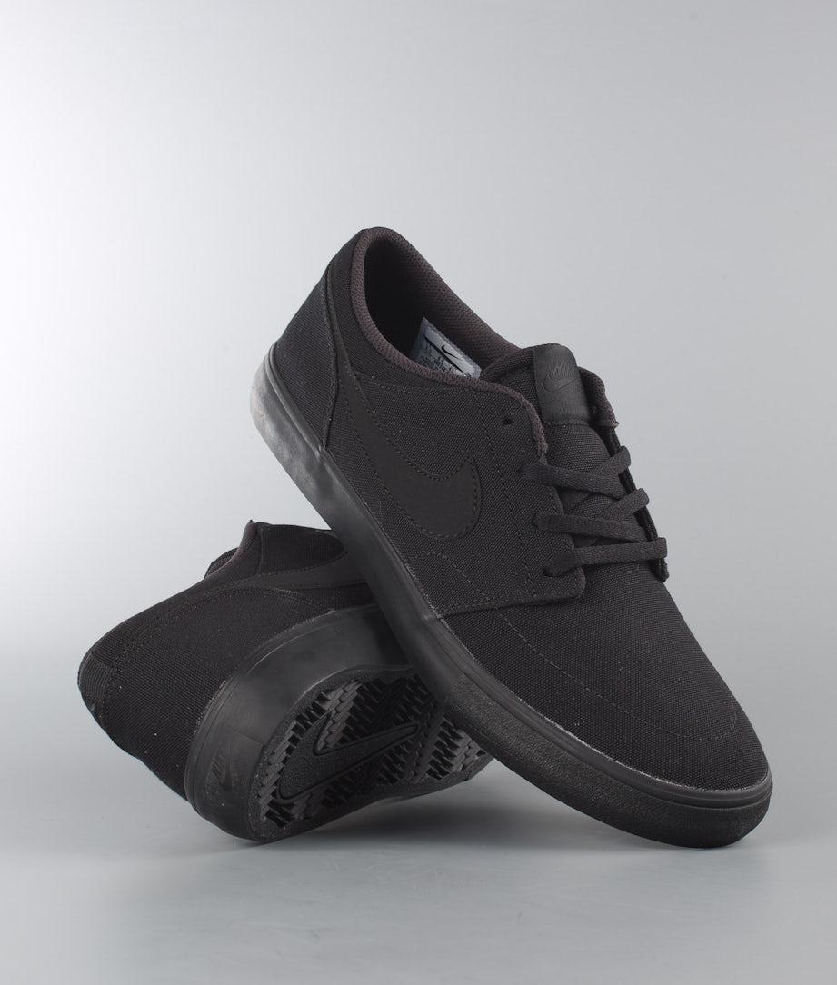 Nike SB Portmore II Solar Cnvs Kengät Black/Black