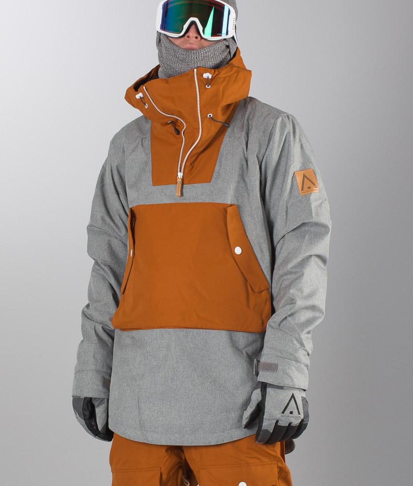 Giacca Ridestore Snowboard Da Grey Wear Anorak Melange it Wearcolour RgqFSR