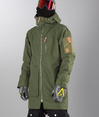 new arrival cf321 c6a5d WearColour Ullr Parka Giacca da snowboard Olive Green