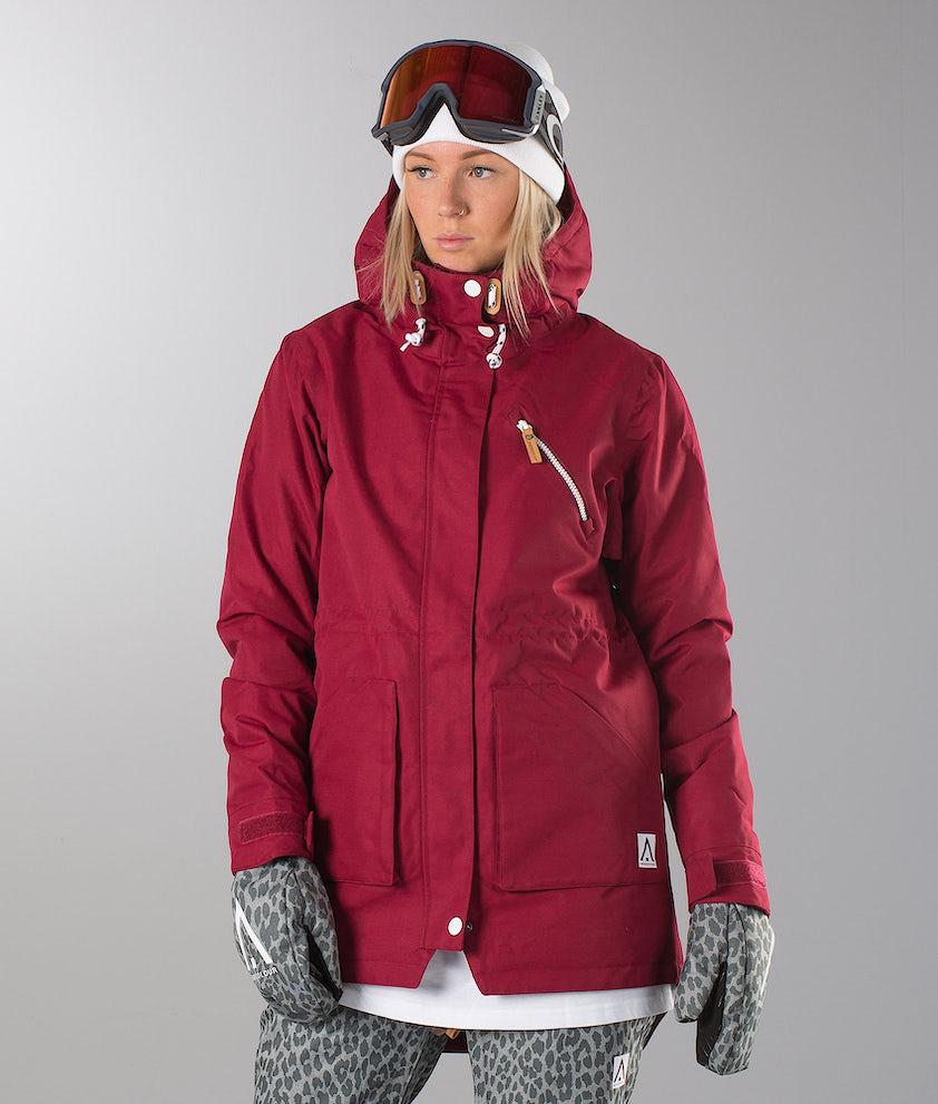 WearColour WEAR Parka Snowboard Jacket Burgundy