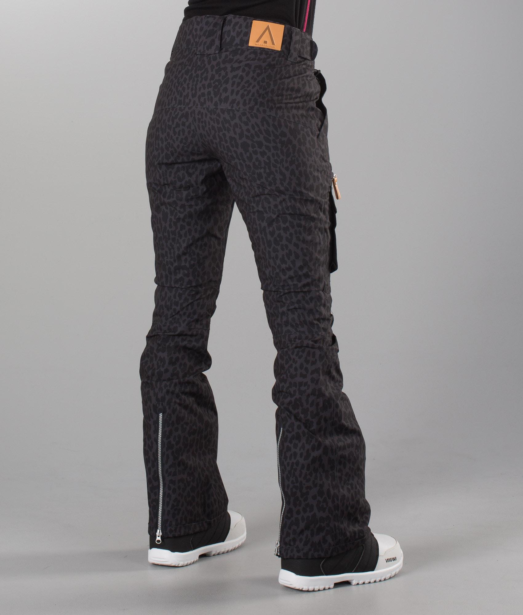 WearColour Slant Snow Pants Black Leo - Ridestore.com 9a7d8eab1