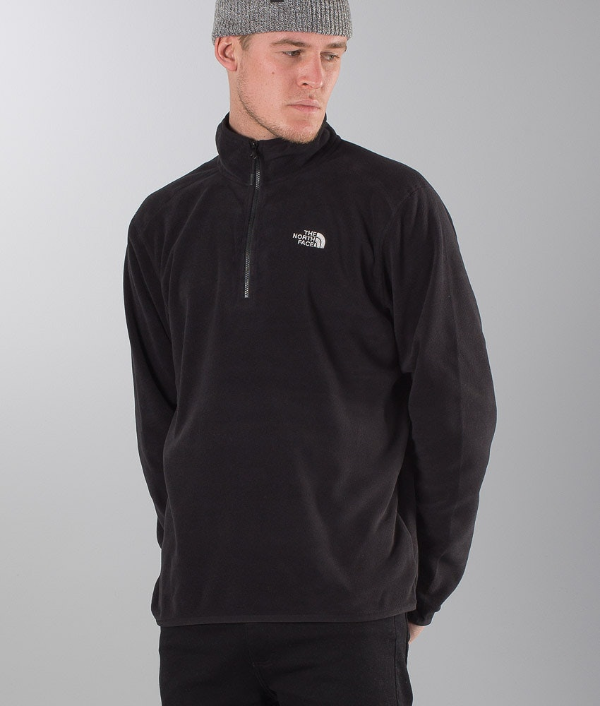 The North Face 100 Glacier 1/4 Zip Felpa Pile Tnf Black