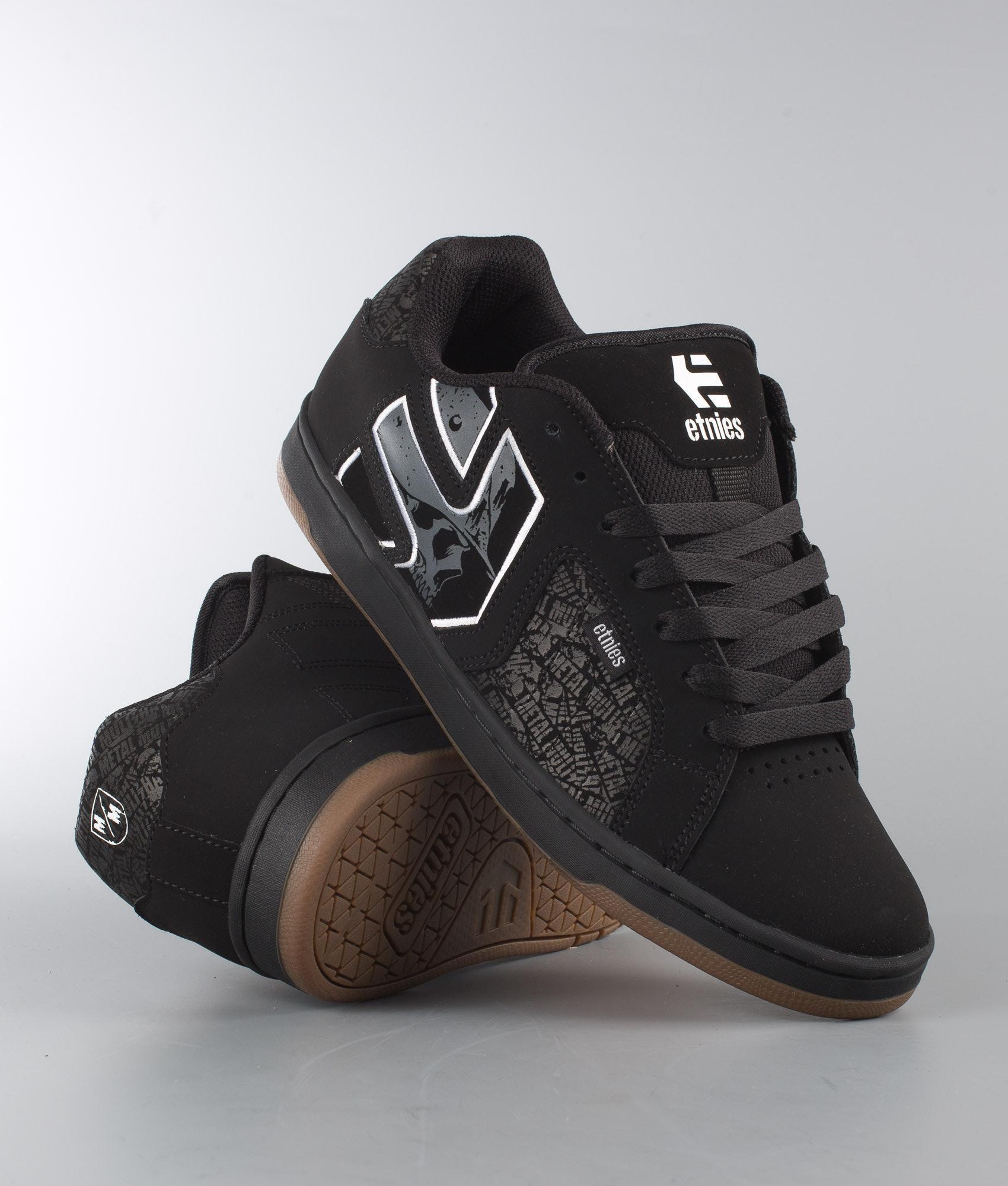 a9721e9da42 Etnies Metal Mulisha Fader 2 Shoes Black Grey White - Ridestore.com