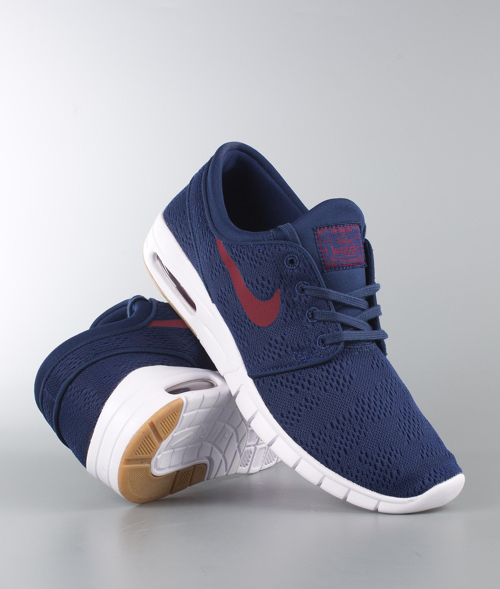 5b8736810f Nike Stefan Janoski Max Shoes Binary Blue/Team Red-Gum Light Brown ...