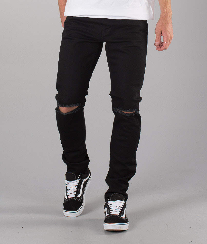 Dr Denim Clark Pants Black Ripped Knees