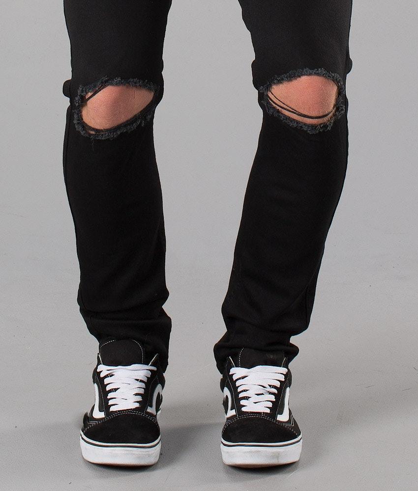 Dr Denim Clark Byxa Black Ripped Knees