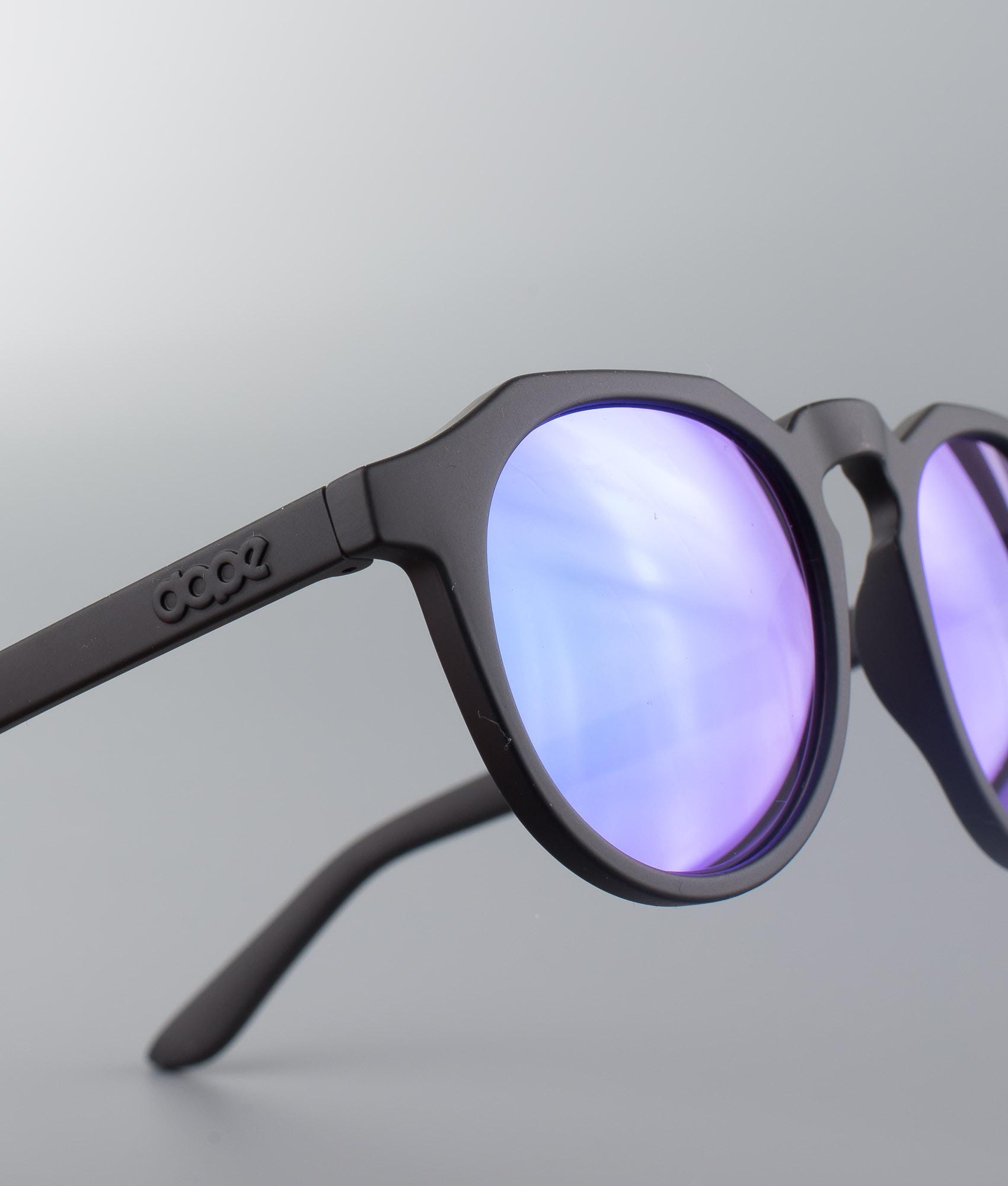 592068d0c0e Dope Old School 3 Sunglasses Matte Black Mirror Purple - Ridestore.com