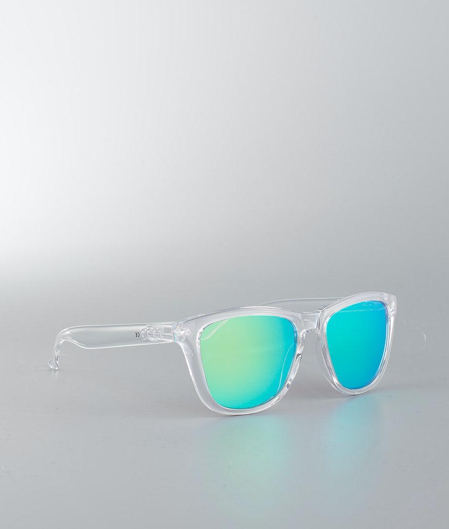 Dope Daywalker 2.0 Sunglasses Clear W/Green Mirror