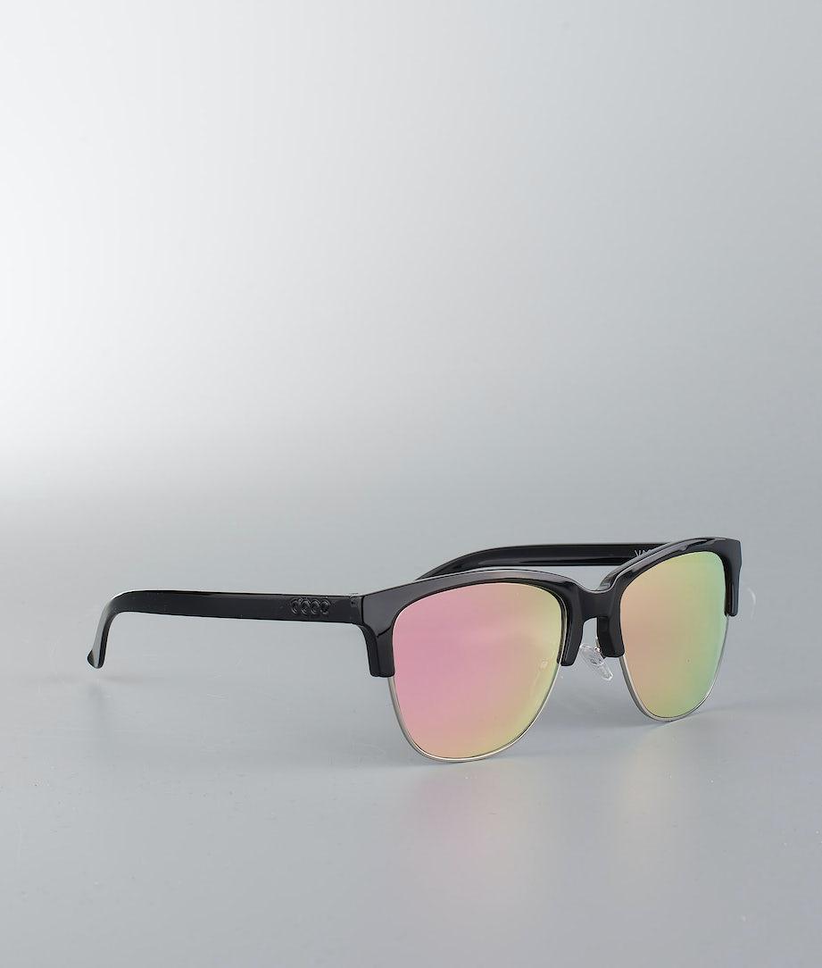 Dope Vacay Sunglasses Glossy Black W/Rose Mirror