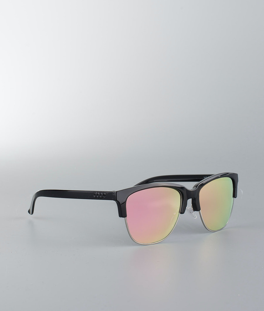 Dope Vacay Lunettes de soleil Glossy Black W/Rose Mirror