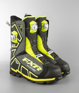 FXR Elevation LITE Dual Zone BOA Boot Sneeuwscooter Boots Black/Hi-Vis/Char