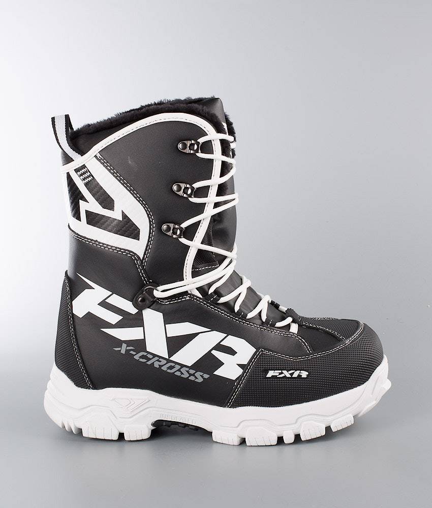 0eee5228972 FXR X Cross Boot Snøscooterstøvler Black/White - Ridestore.no