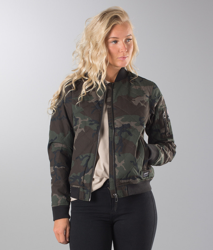 Dope Girls Bomber Jacke Wood-Camo