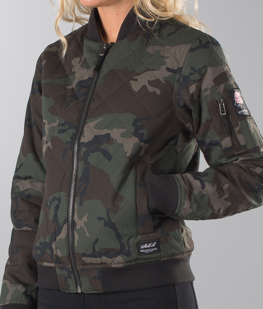 Dope Girls Bomber Jacka Dam Wood-Camo