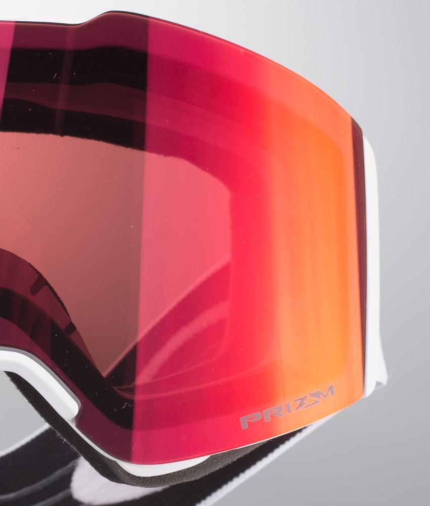 Oakley Fall Line Masque de ski Matte White W/Prizm Torch