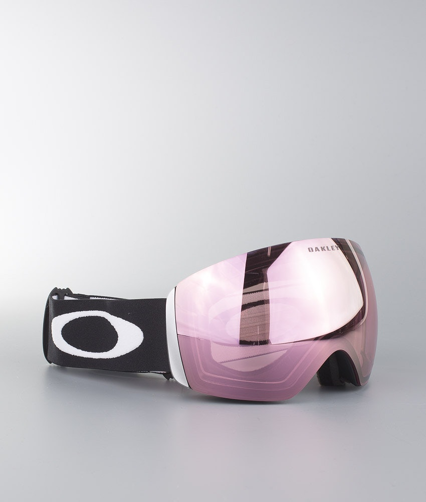 Oakley Flight Deck XL Maschera Sci Matte Black With Prizm Hi Pink Iridium Lens