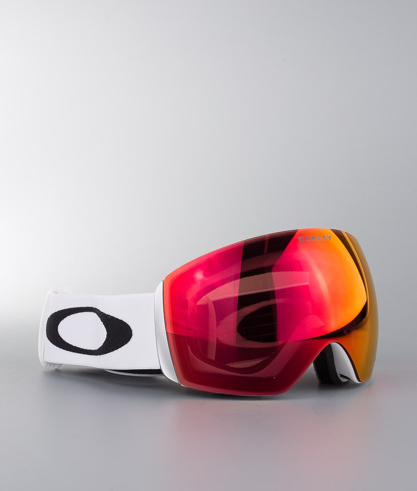 Oakley Flight Deck XL Masque de ski Matte White With Prizm Torch Iridium Lens