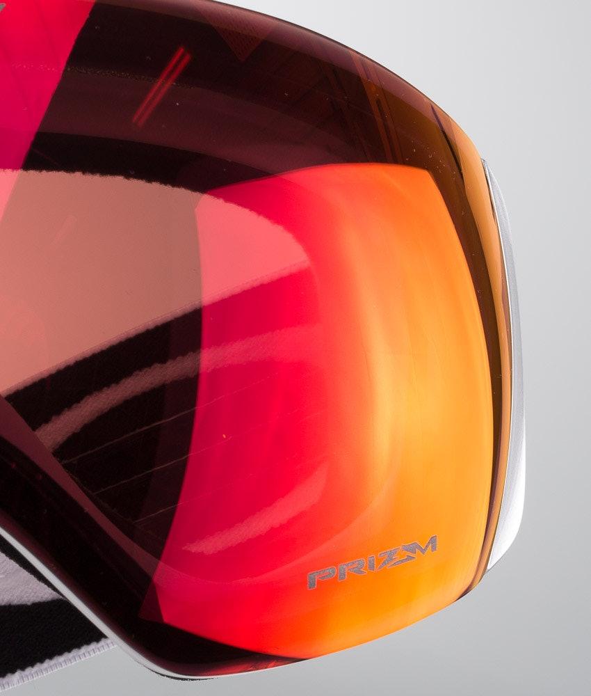 Oakley Flight Deck XL Ski Goggle Matte White With Prizm Torch Iridium Lens