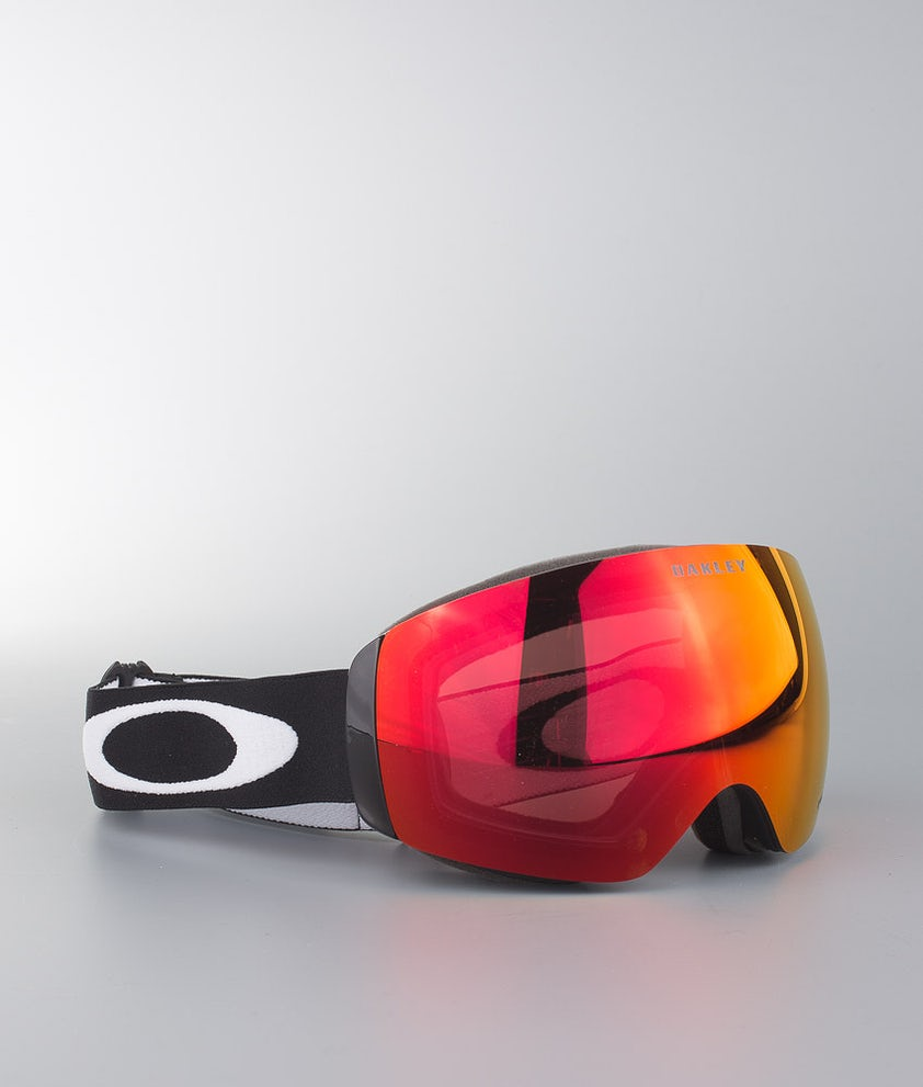 Oakley Flight Deck XM Maschera Snow Matte Black With Prizm Torch Iridium Lens
