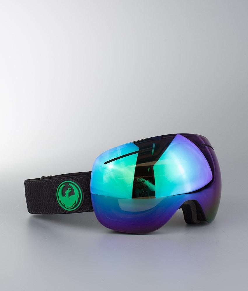 Dragon X1 Ski Goggle Split w/Lumalens Green Ion+Lumalens Amber