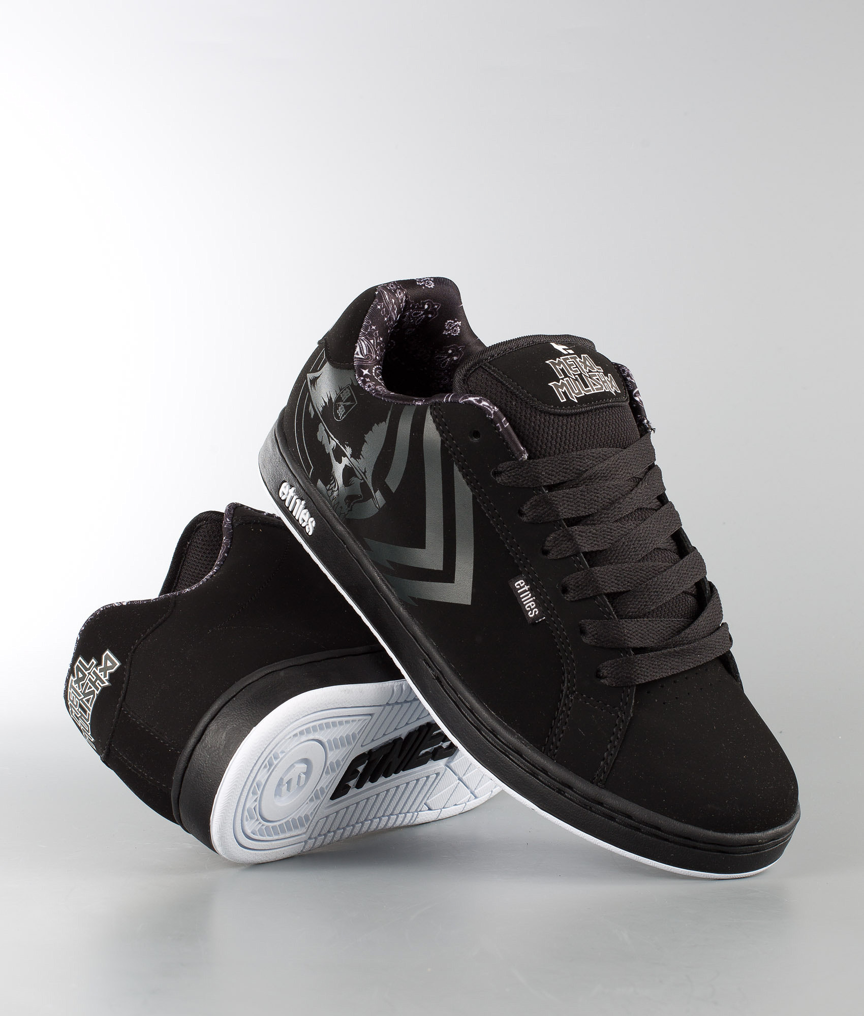 2a4d99a9677 Etnies Metal Mulisha Fader Shoes Black White - Ridestore.com