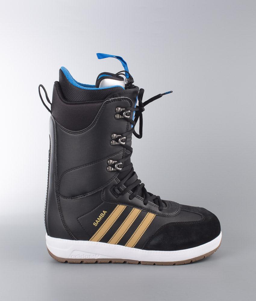 release info on best sell low price sale Adidas Snowboarding Samba Adv Snowboard Boots Cblack/Goldmt/Ftwwht