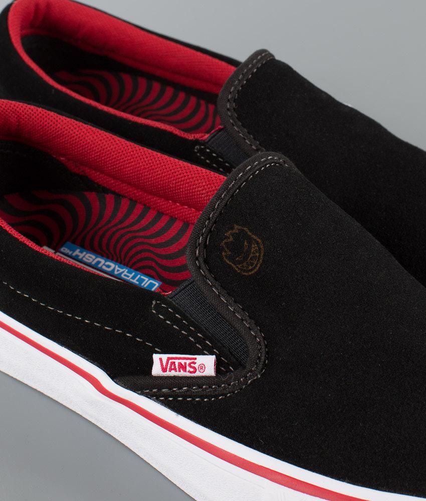 2cd4f41adf1ef7 Vans Slip-On Pro Shoes (Spitfire) Van Der Linden Black - Ridestore.com