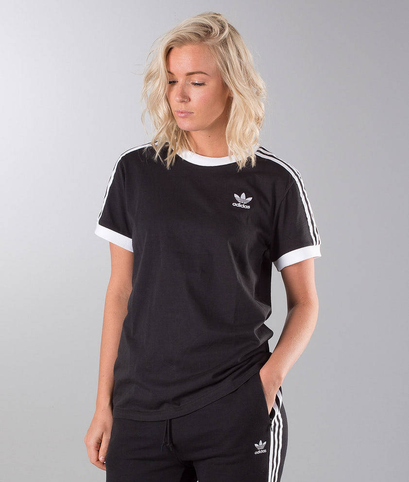 Adidas Originals 3 Stripes T-shirt Black
