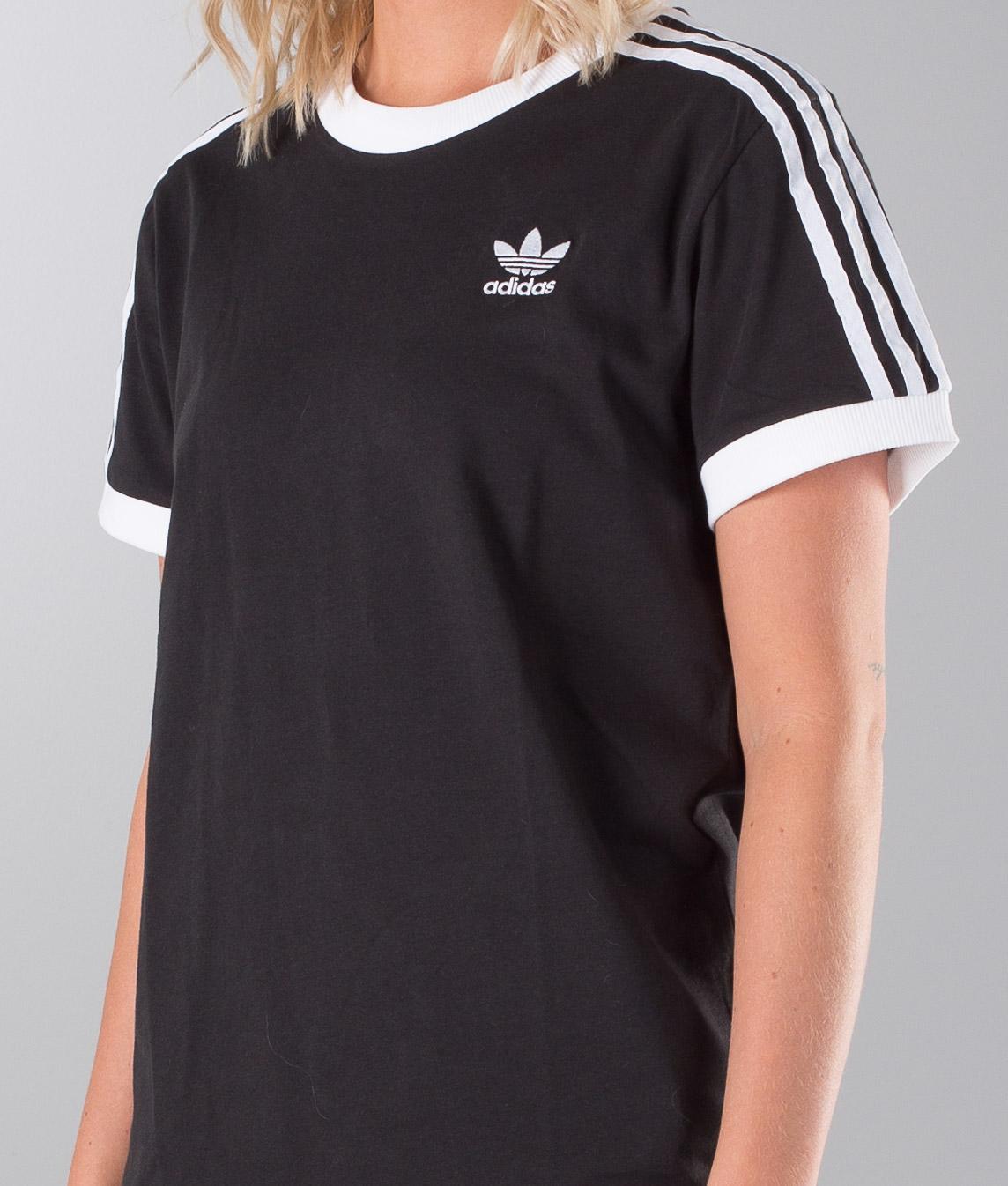 Shirt Adidas Black Originals T 3 Stripes hQtCsrd