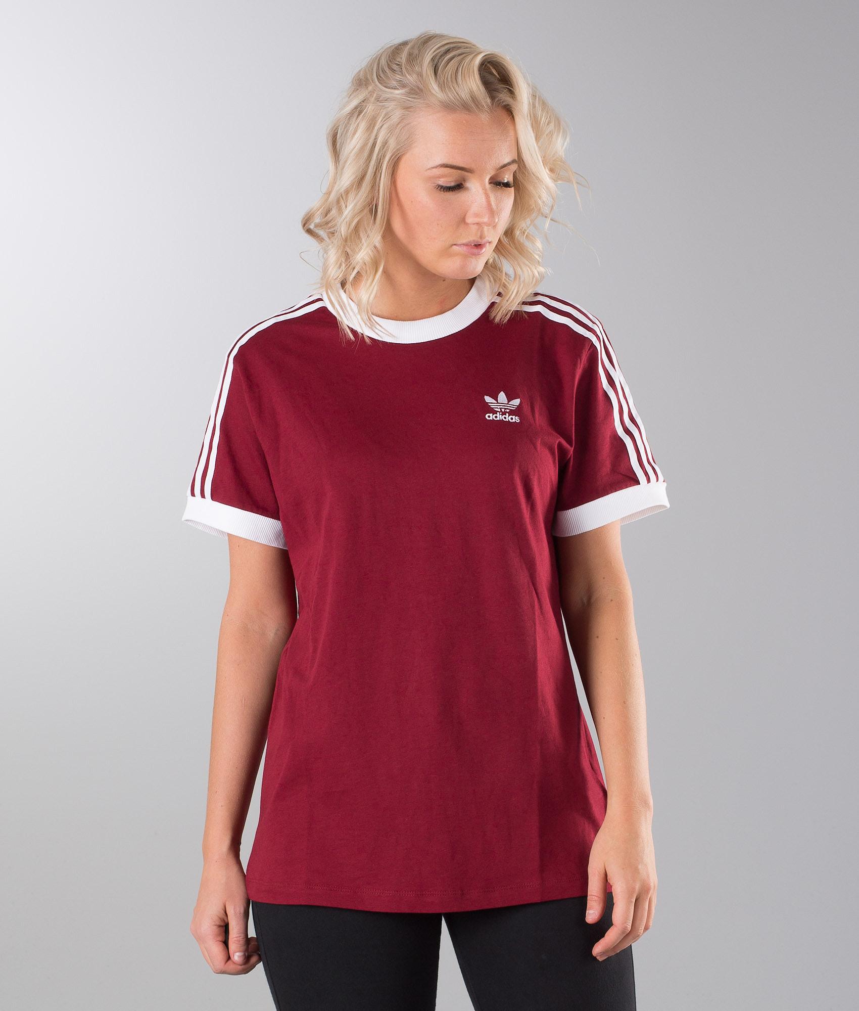 5036781844 Adidas Originals 3 Stripes T-shirt Collegiate Burgundy - Ridestore.com