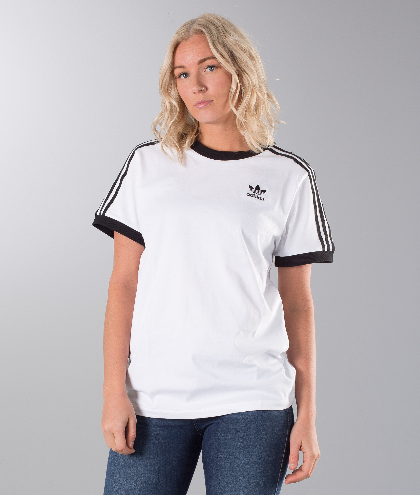 0495c59fa77 Adidas Originals 3 Stripes T-shirt White/Black - Ridestore.com