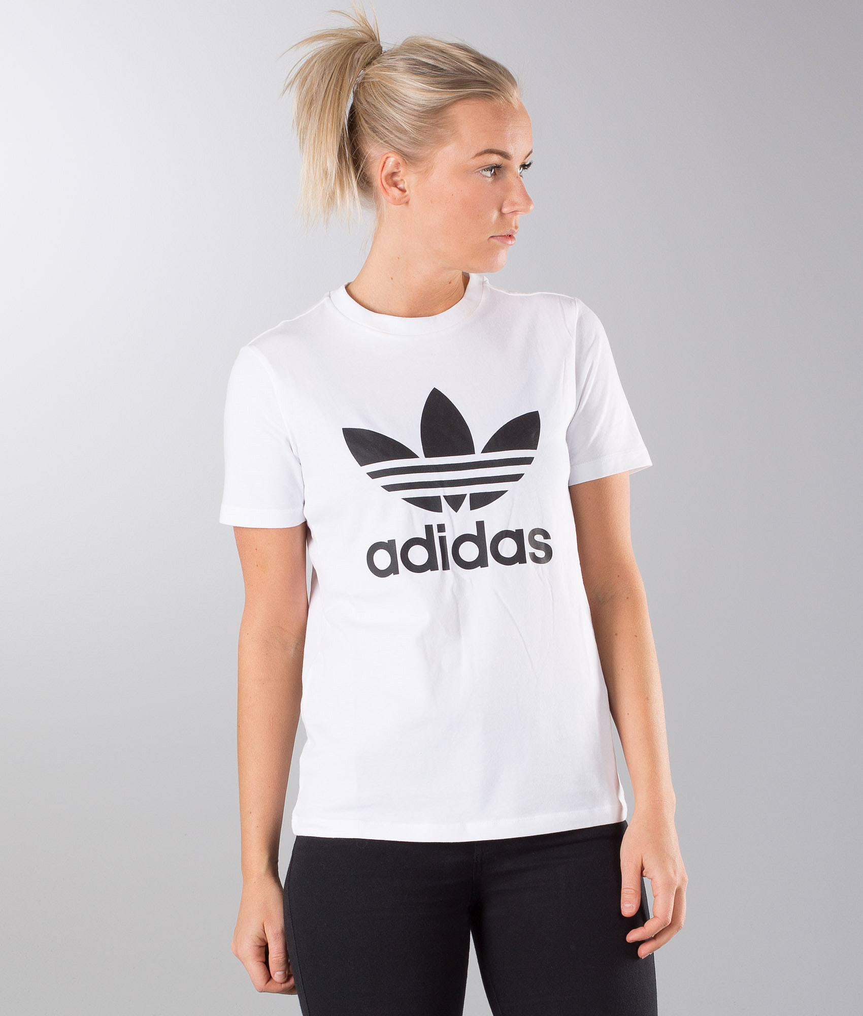 half price low price sale new product Adidas Originals Trefoil T-shirt White/Black