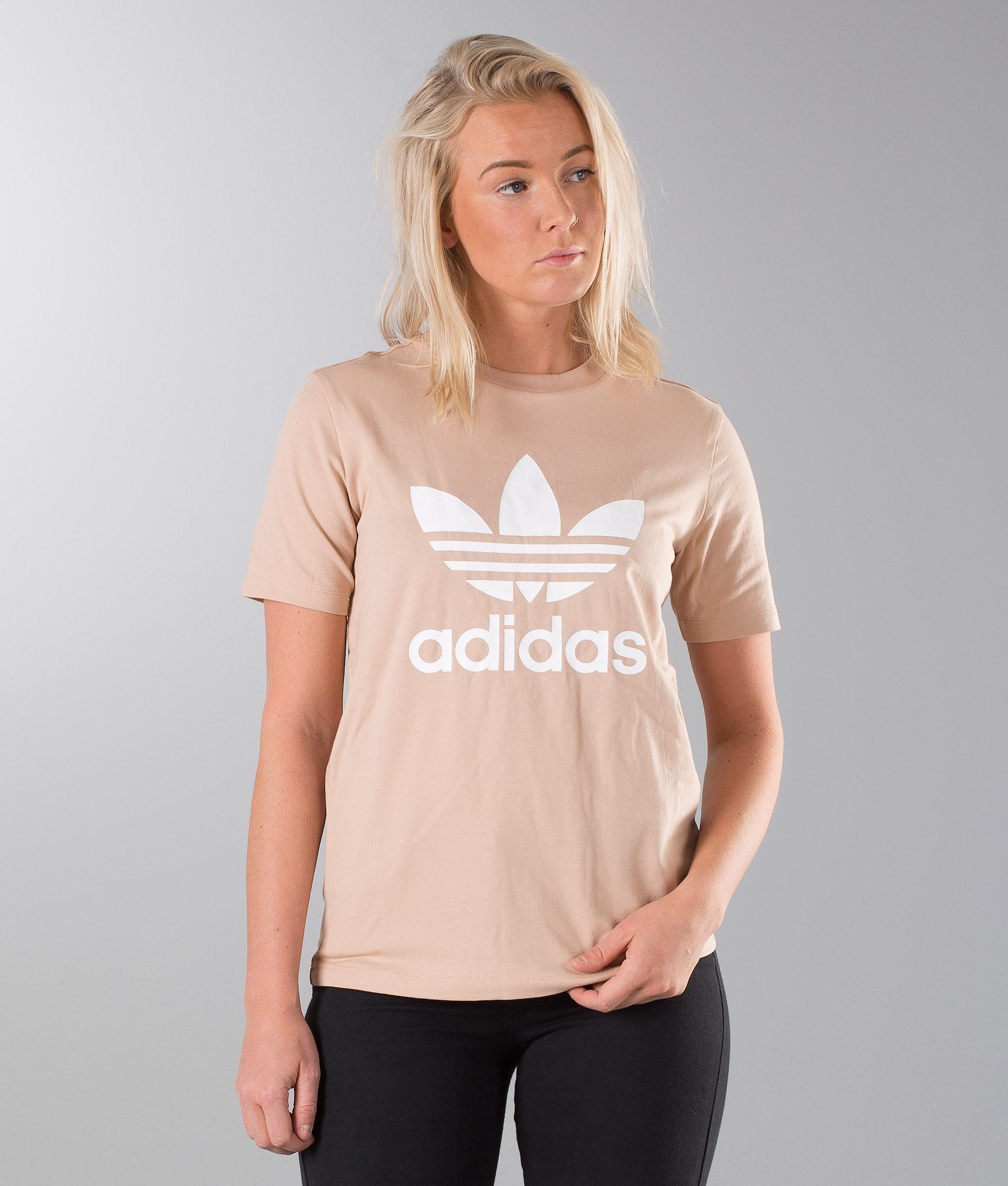 aa7828e18 Adidas Originals Trefoil T-shirt Ash Pearl/White - Ridestore.com