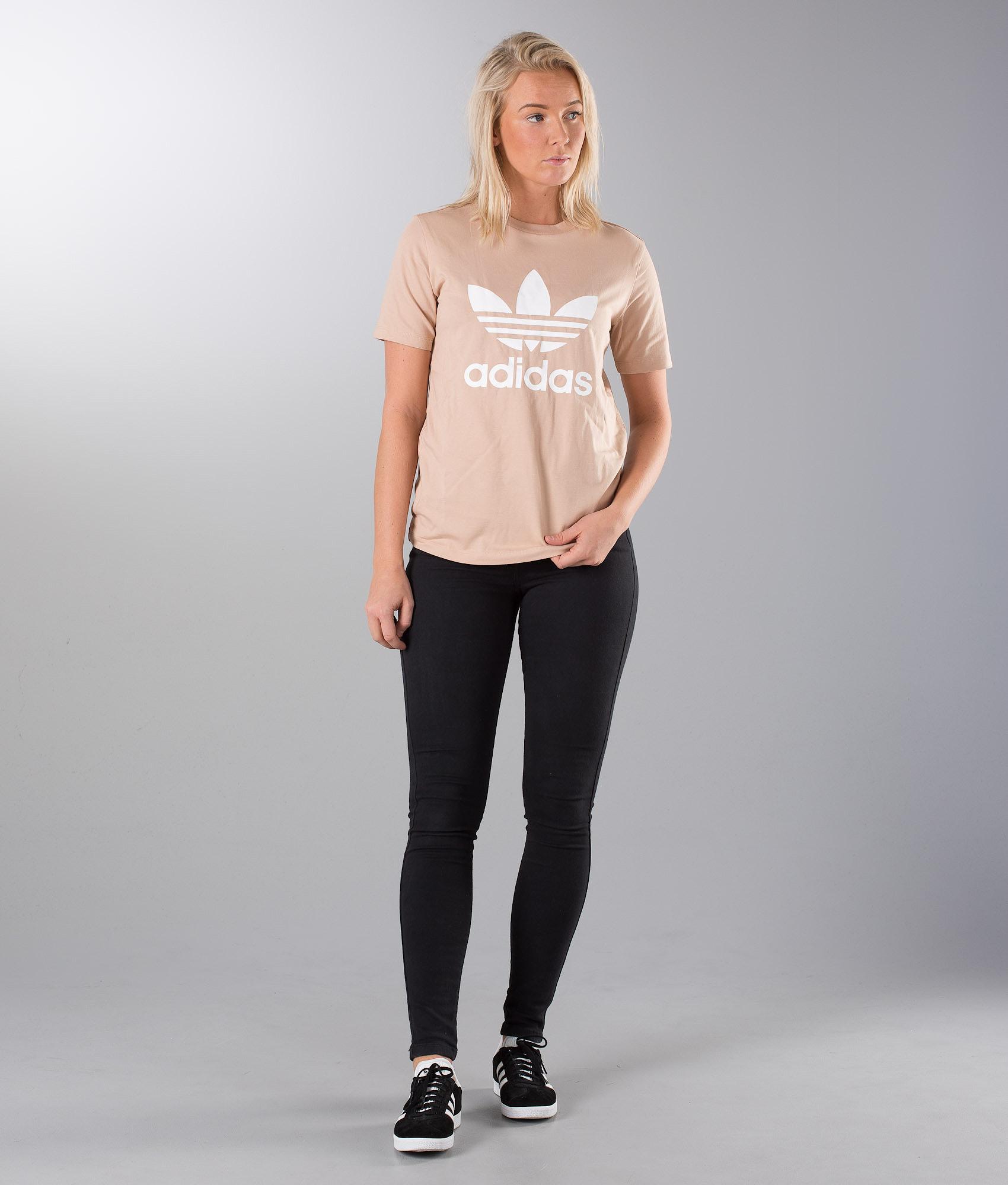 d24e1c63 Adidas Originals Trefoil T-shirt Ash Pearl/White - Ridestore.com
