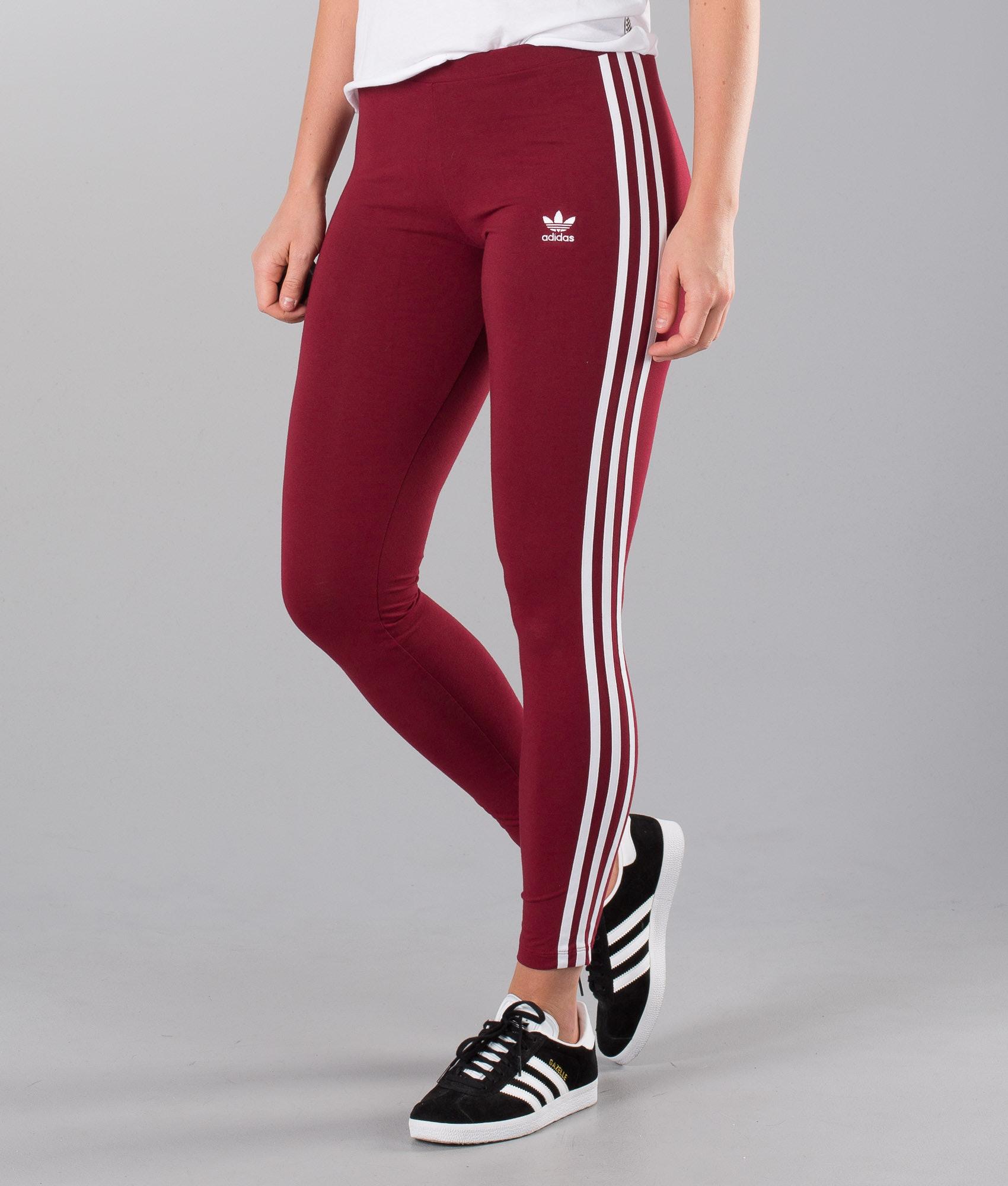 b4ee7defe1 Adidas Originals 3 Stripes Leggings Collegiate Burgundy - Ridestore.com