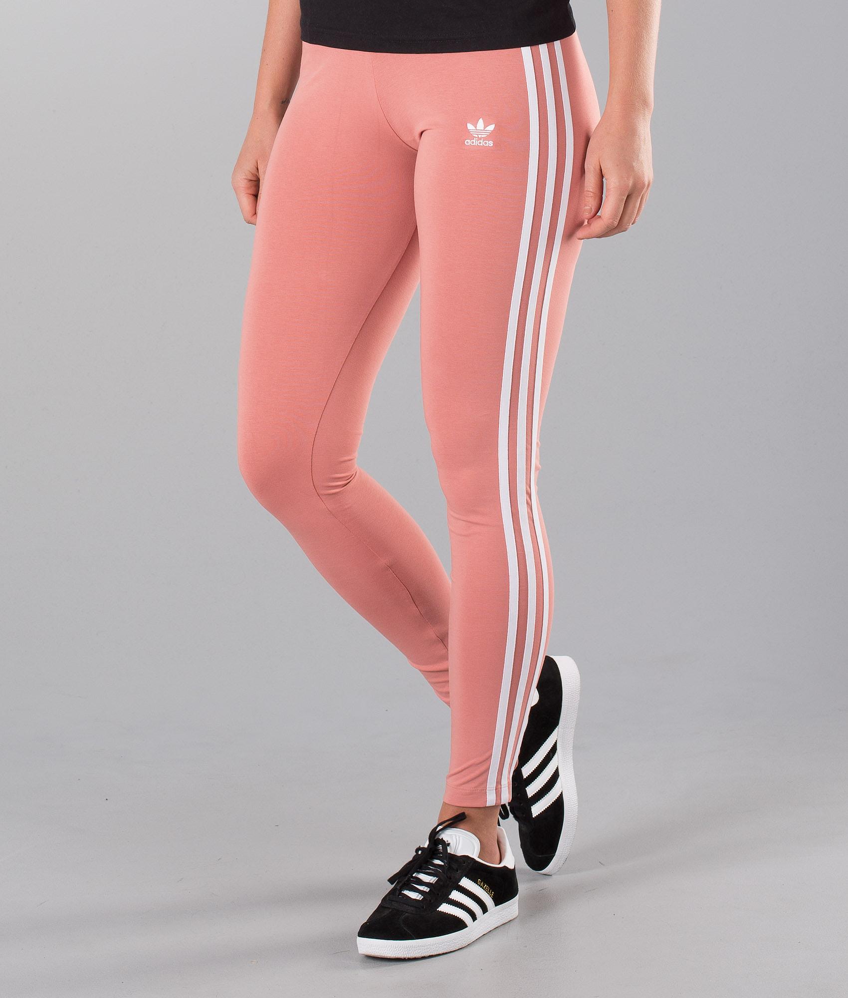 ff58193d8adfb Adidas Originals 3 Stripes Leggings Ash Pink - Ridestore.com