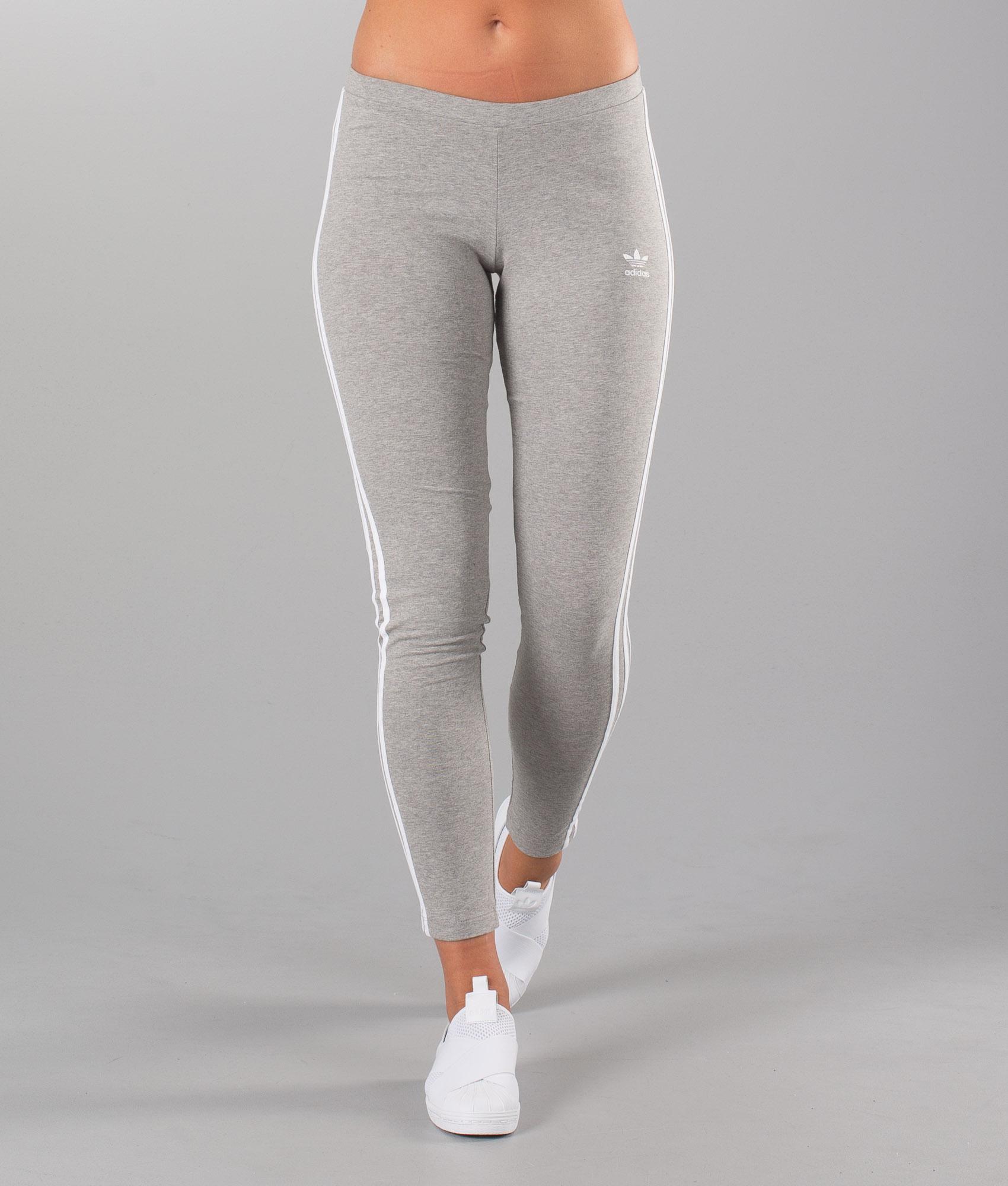 adidas Originals Leggings 3 Stripes Tight Medium Grey Heather