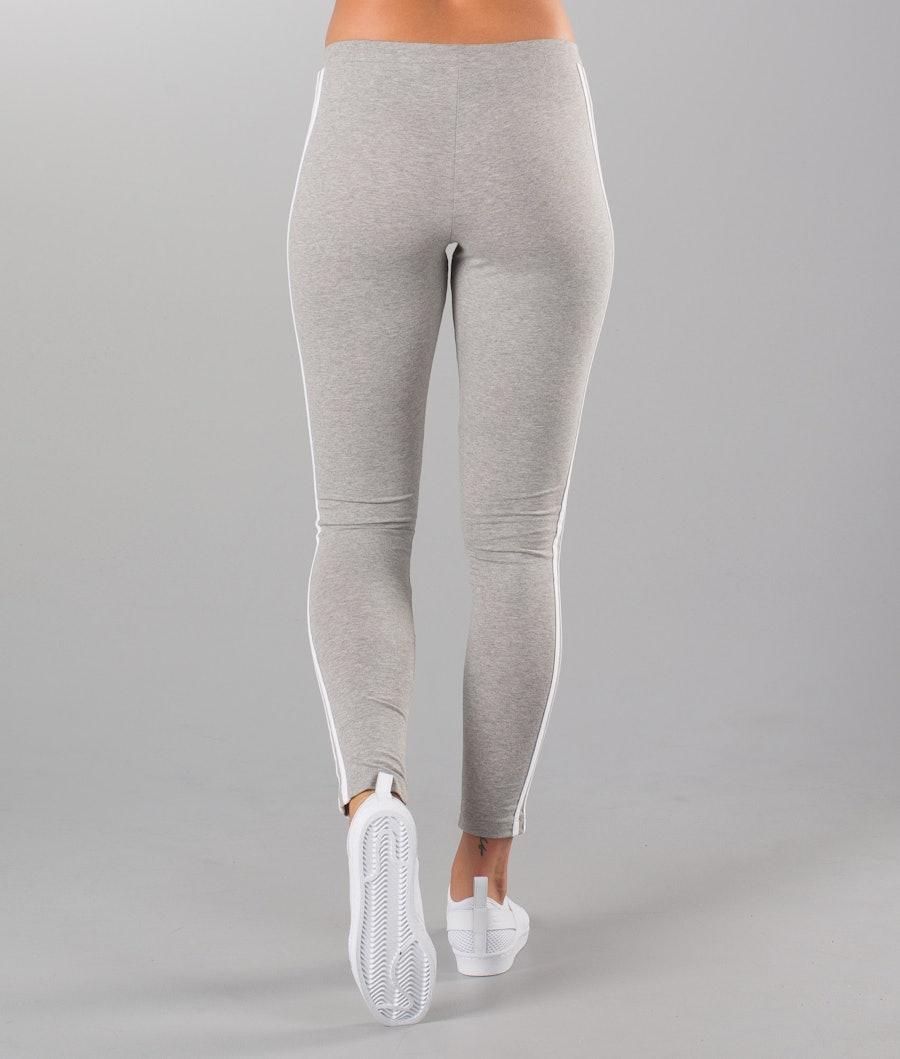 Adidas Originals 3 Stripes Leggings Dame Medium Grey Heather