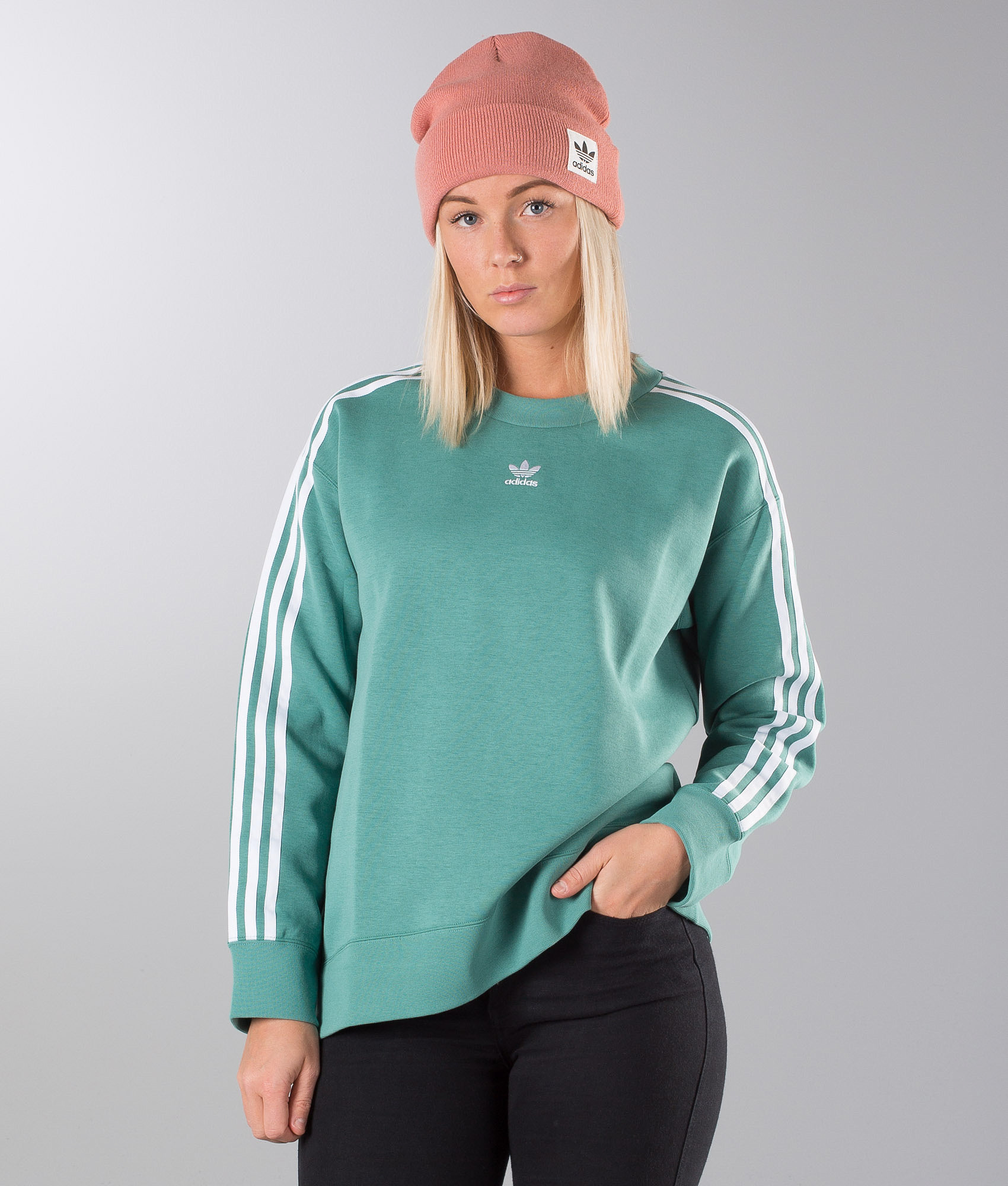 16dbc457 Adidas Originals Crew Sweater Future Hydro - Ridestore.com
