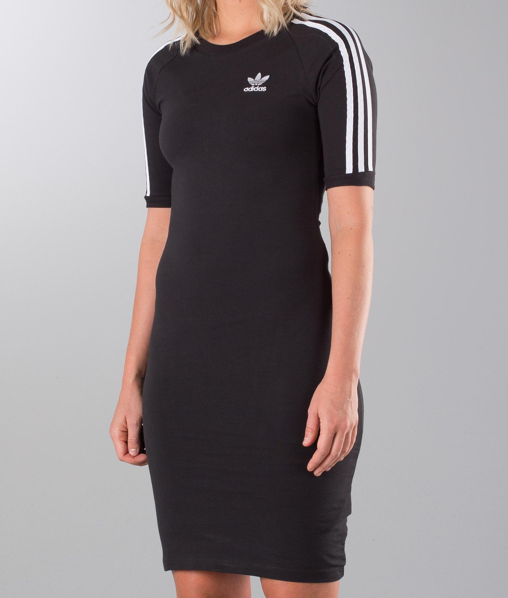 Black Adidas Originals Kleid Stripes Dress Ridestore ch 3 QrdtsCxh
