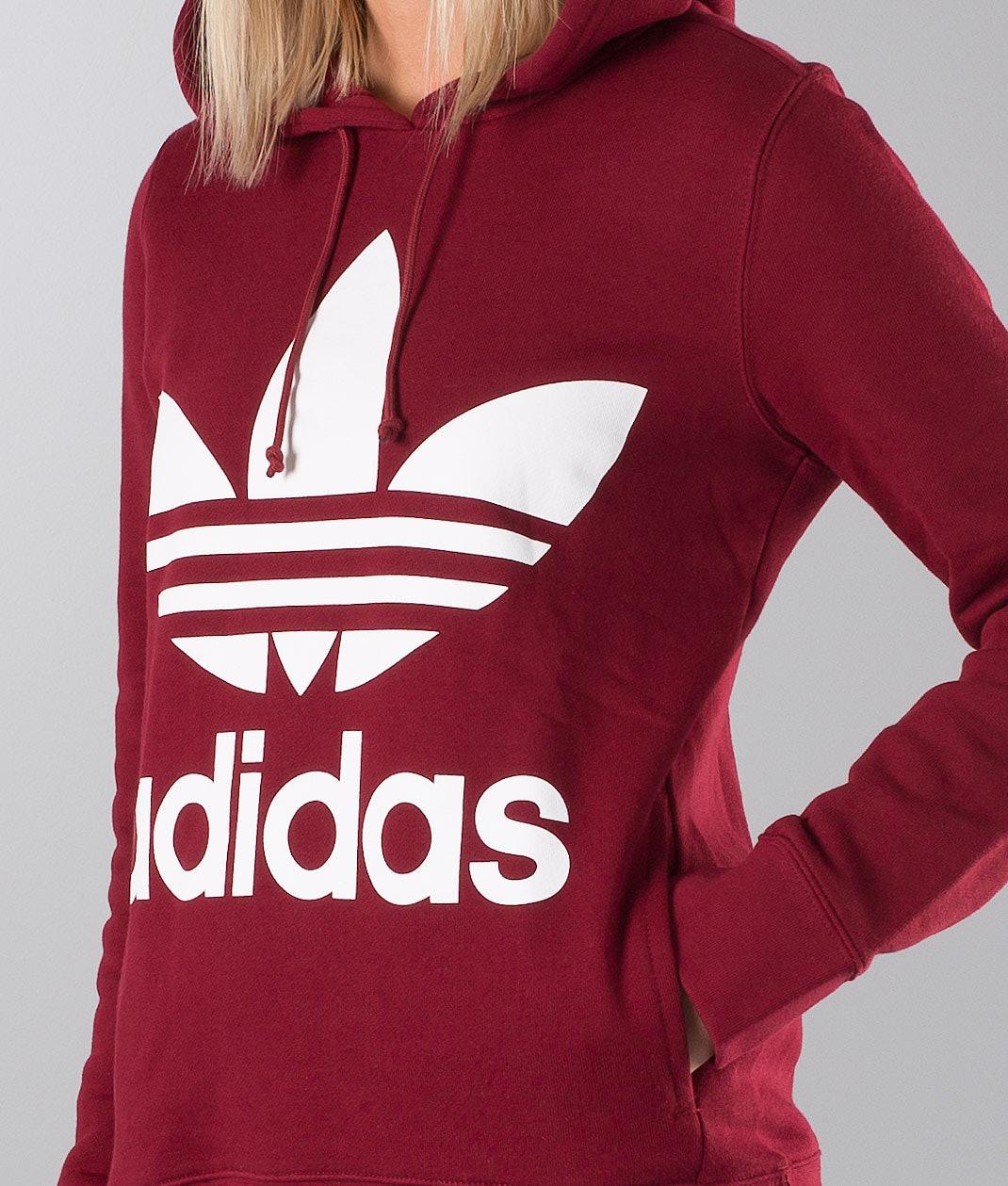 1e0ec6d902a Adidas Originals Trefoil Hoodie Collegiate Burgundy - Ridestore.nl