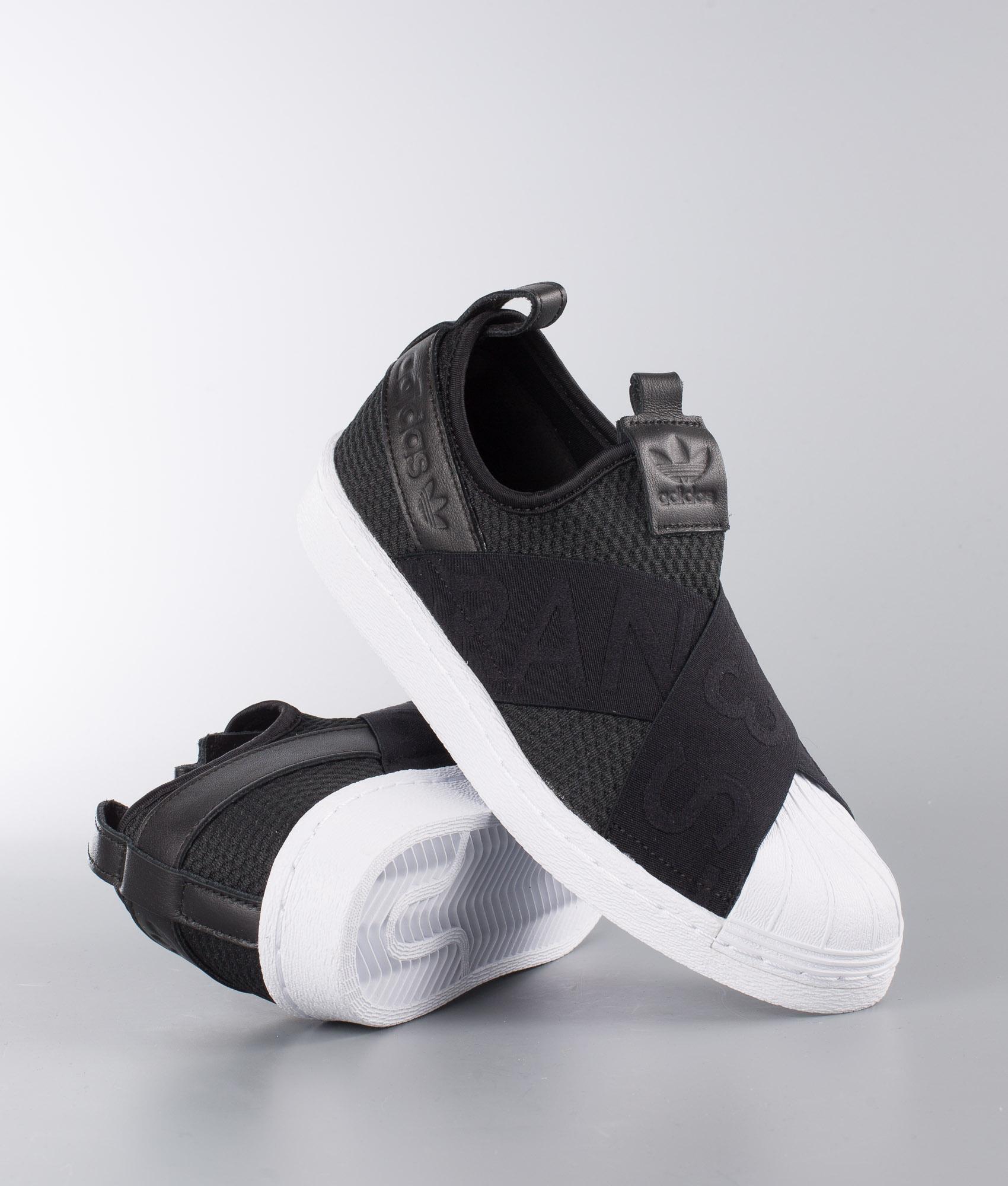 adidas Originals SUPERSTAR SlipON W Black White Free