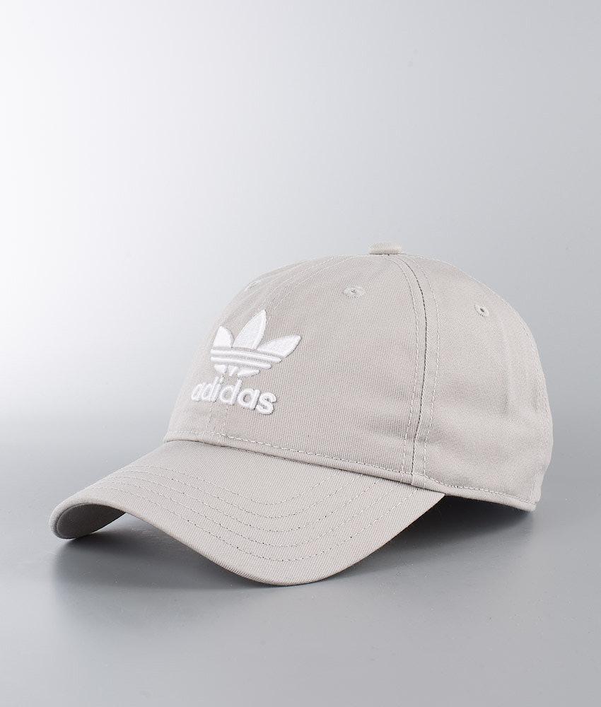 a3a0a15df5c Adidas Originals Trefoil Cap Mgh Solid Grey White - Ridestore.com