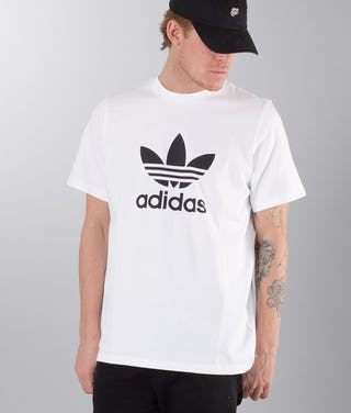 preview of entire collection new high quality Adidas Originals Trefoil T-shirt White