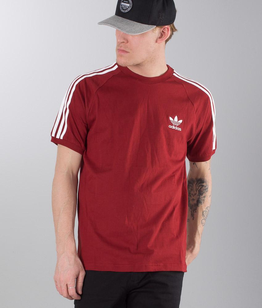 Adidas Originals 3-Stripes T-shirt Rust Red
